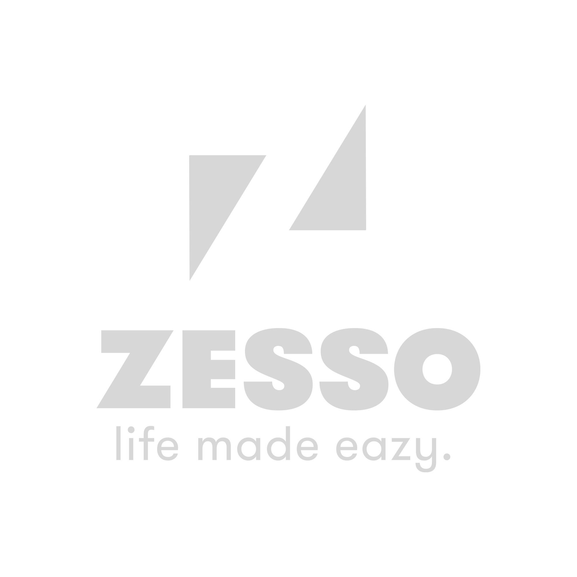 DecoToday Glasgordijn 140 cm x 240 cm Zena Grey Leaves